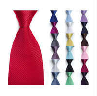 Wholesale Mens Stripe Business Formal Woven Silk Ties Wedding Groomsmen Party Tie Necktie DH04