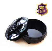 storage containers - Queen Vintage Make up Box Loose Powder Container Accessories Jewelry Storage