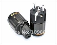 Cheap 5pairs Oyaide P-004E Rhodium Platinum Pure Copper EU Power Plug & C-004 IEC Connector