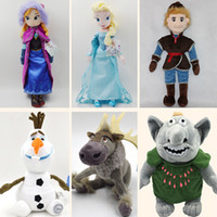 Wholesale Retail set Frozen cm Princess Elsa Anna Olaf Sven Kristoff Trolls plush toys dolls Cheap Christmas Gift