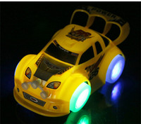 Wholesale LED Car Toys LED Lighted Toys Cute Cars Different Color Kids Christmas Gift Race Car Model Lighting Play Music Funny Kids Playing Safety Toy