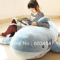 "Cheap 70"" GIANT HUGE BIG SHARK STUFFED ANIMAL PLUSH SOFT TOY PILLOW SOFA CUTE GIFT Free Shiping"