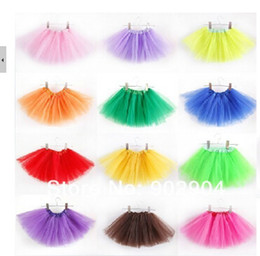 Wholesale candy color kids tutus skirt dance dresses kids baby bubble skirt girl tutu dress ballet skirt pettiskirt clothes
