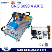 Wholesale CNC Axis engraving Machine with KW VFD water cooled spindle CNC Milling Lathe machine