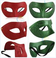 Wholesale Featival Mens Carving Flower Mask Halloween Masquerade Masks Venetian Dance Party Mask Men Masks