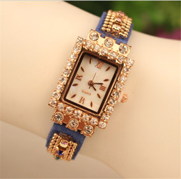 Fashion Lady Wrap Women Quartz Lady Leather Wrist Watches Rectangular Dial Charming Bracelets Watches Free Shipping