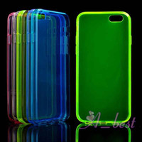 Wholesale For iPhone Plus Transparent Soft TPU Gel Case Clear Back Cover Skins For iPhone Case