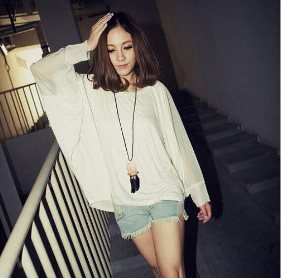 Korean Long Sleeves Blouse Long Sleeve Women Blouses