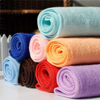 Wholesale 25 cm Special Absorbent Microfiber Kitchen Cleaning Cleaning Small Square Gift Towel Colors Drop Shipping HG
