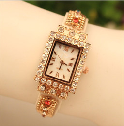 Fashion Lady Wrap Women Quartz Watches Lady Leather Wrist Watches Rectangular Dial Charming Watches Mix Colors Free Shipping