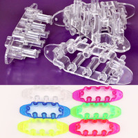Cheap DIY Bracelet Weaving Frame Tool Rubber Bands Loom Kit 6 Colors Handmade Jewelry HG-1193