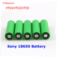 Wholesale 100 Original battery vtc4 vtc3 vtc5 battery A mAh V rechargeable So ny VTC lithium battery have Testing Data Certification