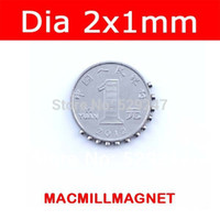 rare earth magnets - 2016 New Mini small Disc Rare earth Magnet Neodymium super Strong Permanent Magnet Neo pack Dia2x1mm