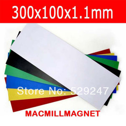 Brand New Magnetic sheet, Magnetic 300x100x1.1mm one side with PVC, 6pcs pack,flexible magnet, Soft