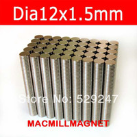 Wholesale 100PCS Rare earth Neodymium Super Strong NdFeB Neo craft Permanent Disc Rod Magnet Dia12x1 mm magnetic disc