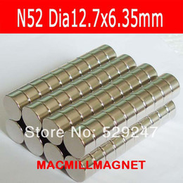 N52 Rare Earth Neodymium Magnet Brand New Super Strong Magnetic disc 10pcs pack Dia12.7x6.35mm, Free Shipping