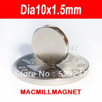 Wholesale pack dia10x1 mm Whole Sales Brand New Disc Rare earth Neodymium Strong Permanent Disc Magnet