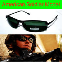 Wholesale LUXURY US SOLDIER MODEL Driver s TAC enhanced polarized polaroid polarised golf ski UV Men s sunglasses with foam bag n box