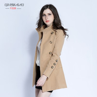 Wholesale Thousands of Australia fall and winter clothes new Korean long paragraph Slim woolen coat big yards ladies woolen coat