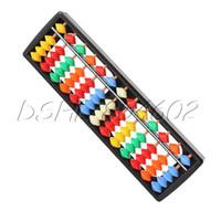 Wholesale Mini Plastic Colorful Office Useful Column Abacus Soroban Calculating Tool