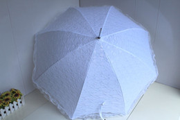 Wholesale Only White Lace Umbrella Wedding Parasol Fashion Bridal Parasols New Arrival China
