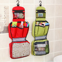 Wholesale Hanging Wash Bags Collapsible Toilet Requisites Organisers Bags Multifunctional Zipper Closure Cosmetic Bags