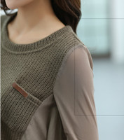 Wholesale Loose fat MM in the autumn of the new large yards long cultivate one s morality show thin in the women s clothing han edition style lo