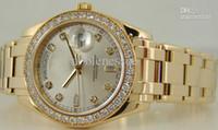Cheap Wholesale - Luxury Men's RARE Men's 18kt Gold DIAMOND MASTERPIECE 18948 Wristwatch Automatic Mens Watch Watches