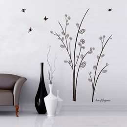 Vinyl Wall Art Stickers Butterfly Large Tree Wall Decals for Room Decor