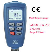 Wholesale paint thickness gauge thickness meter coating thickness gauge tester F NF range um CEM DT