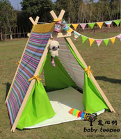 Cheap Free shipping Gree Fild Child Toy Adjust Tent Portable Children Play House Kids Outdoor Wigwam Indian Tent Teepee