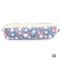 Cheap New Arrival fashion Cute Polka Dot Floral student pencil bag storage bag stationery cases drop shipping OSS-0095
