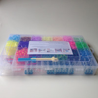 Cheap Rainbow Loom kit 6000pc Loom Bands Set with1 Loom & 1Hook & 100 Clips & 4 charms Plastic case