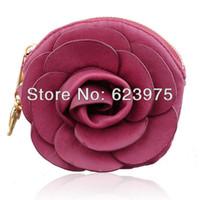 Wholesale Beauty Purse Camellia Coin Wristlet More Colors