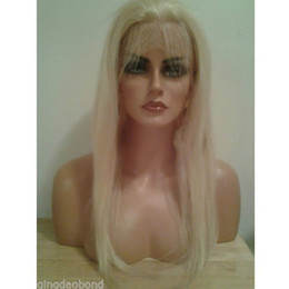 Cheap indian human hair full lace wigs&front lace wigs blond natural straight white woman hair wigs