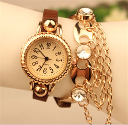 Fashion Wrap Bracelets Women Wrist Watches Leather Wrap Alloy Charms Quartz Movement PU Band Mix Colors Free Shipping
