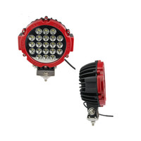 Wholesale 6 inch W Epistar Red led work lights Off_Road JEEP Headlight Spot Flood Beam Round Driving Work Light Car Auto Motocycle Fog Lamp