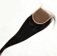 Brazilian Hair Natural Color Straight Free Part Silk Base Closure Straight 6a Unprocessed Brazilian Virgin Hair Lace Top Closure Straight Remy Hair