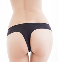 Wholesale 10 Pieces Sexy Women s Carry Buttock One piece Intimates Panties Cotton Crotch Seamless Girls G string T back Thong Underwear