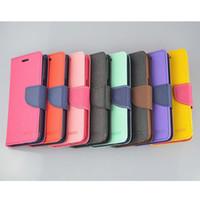 Cubierta del caso del tirón del cuero de Corea MERCURY Goospery color doble para el iPhone cajas del teléfono celular 6 Dropshipping