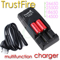 top qualiy Trustfire chargeur TR-006 multi-fonctionnels mods de charge rechargeables 26650 25500 18650 14500 18500 17500 batteries li-ion