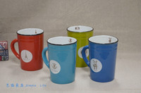 Wholesale New Coming Candy color ceramic mug ceramic cup coffee cup Vintage Style Drinking mug