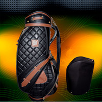 Wholesale grenda golf bag real leadther bag golf bags
