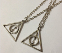 harry potter - 20pcs Fashion Harry Potter The Deathly Hallows Necklace Pendant Charm Jewelry Making DIY Lobster Claw Clasps cm Long