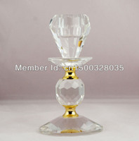 Cheap Elegance and Glamour Crystal Tealight Candle Stick Holder Table Setting wedding candle supplies
