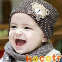 Unisex Summer Crochet Hats New style wholesale fashion baby hat baby cap baby bear hat infant hat infant cap headress children cap 10 color +Free shippipng