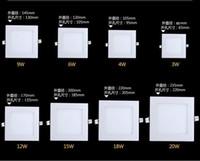 Cheap 3w 4w 6w 9w 12w 15w 18W 20W Panel Light Super Thin White Warm White LED Ceiling Light
