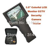 Envío Gratis 3.5quot portátil; Colorido Monitor LCD 5pcs Tool Detector de seguridad CCTV cámara de vídeo Prueba Tester / lot