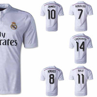Wholesale R Madrid Jerseys Home White RONALDO KROOS JAMES CHICHARITO Madrid Soccer Jerseys Kits Top AAA Quality Fans