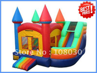 Wholesale size L W H Commercial use inflatable trampoline